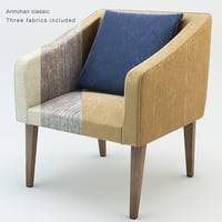 armchair classic 3D model