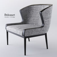 3D armchair lys delcourt model