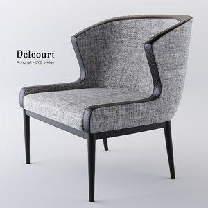 3D armchair lys delcourt model