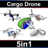 cargo dron 3D