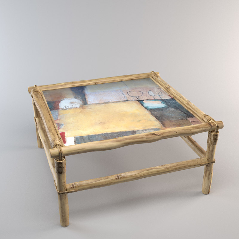 3D bamboo coffee table