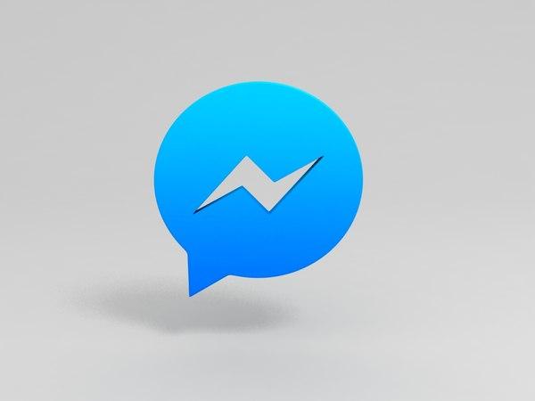 messenger logo 3D model