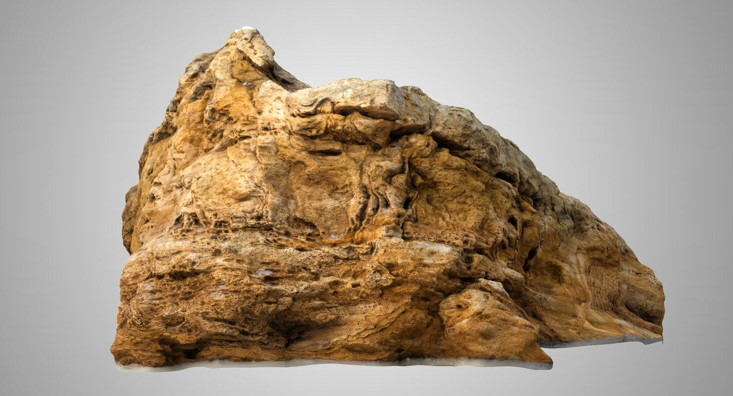 limestone rock 2 model