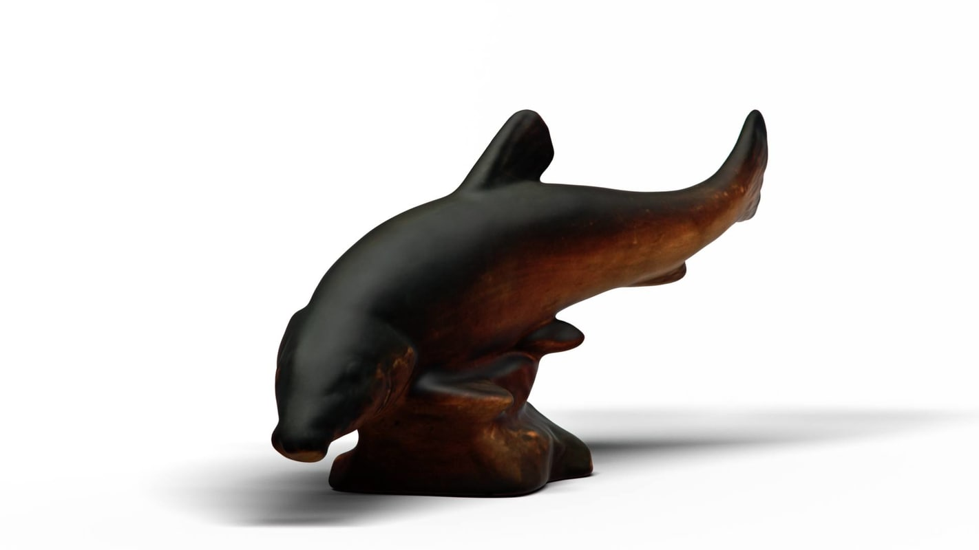 3D model carp terracota