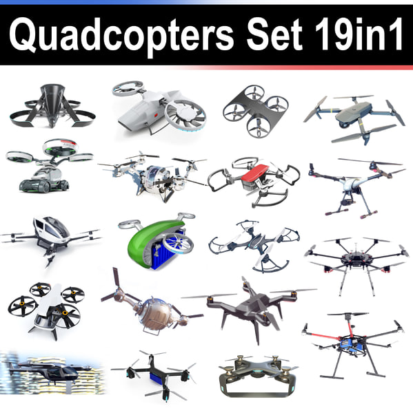 3D dji quadcopter