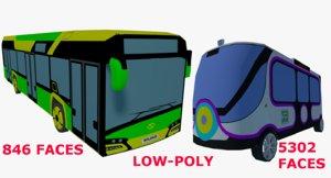low-poly bus 3D model