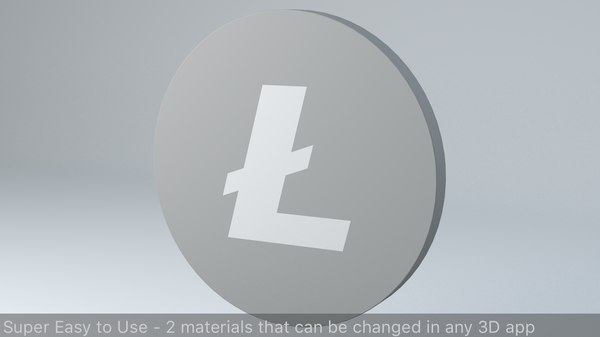 3D litecoin crypto currency logo