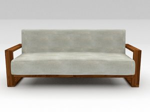 sofa fabric finish 3D model