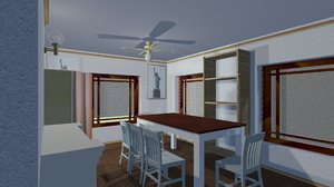 furnish floor house interiors 3D model