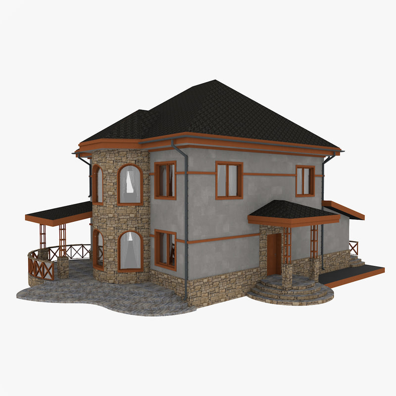 3D model stone house
