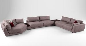 modular sofa 3D