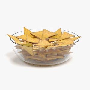 3D model tortilla chips