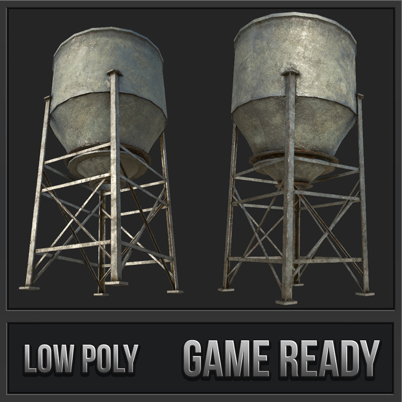 old silo 5 pbr 3D
