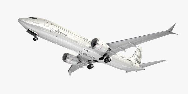 boeing plane generic white 3D model