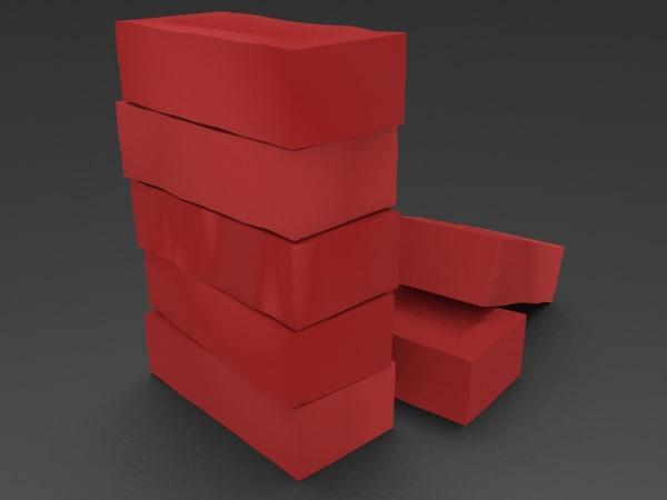 brick stack 3D model