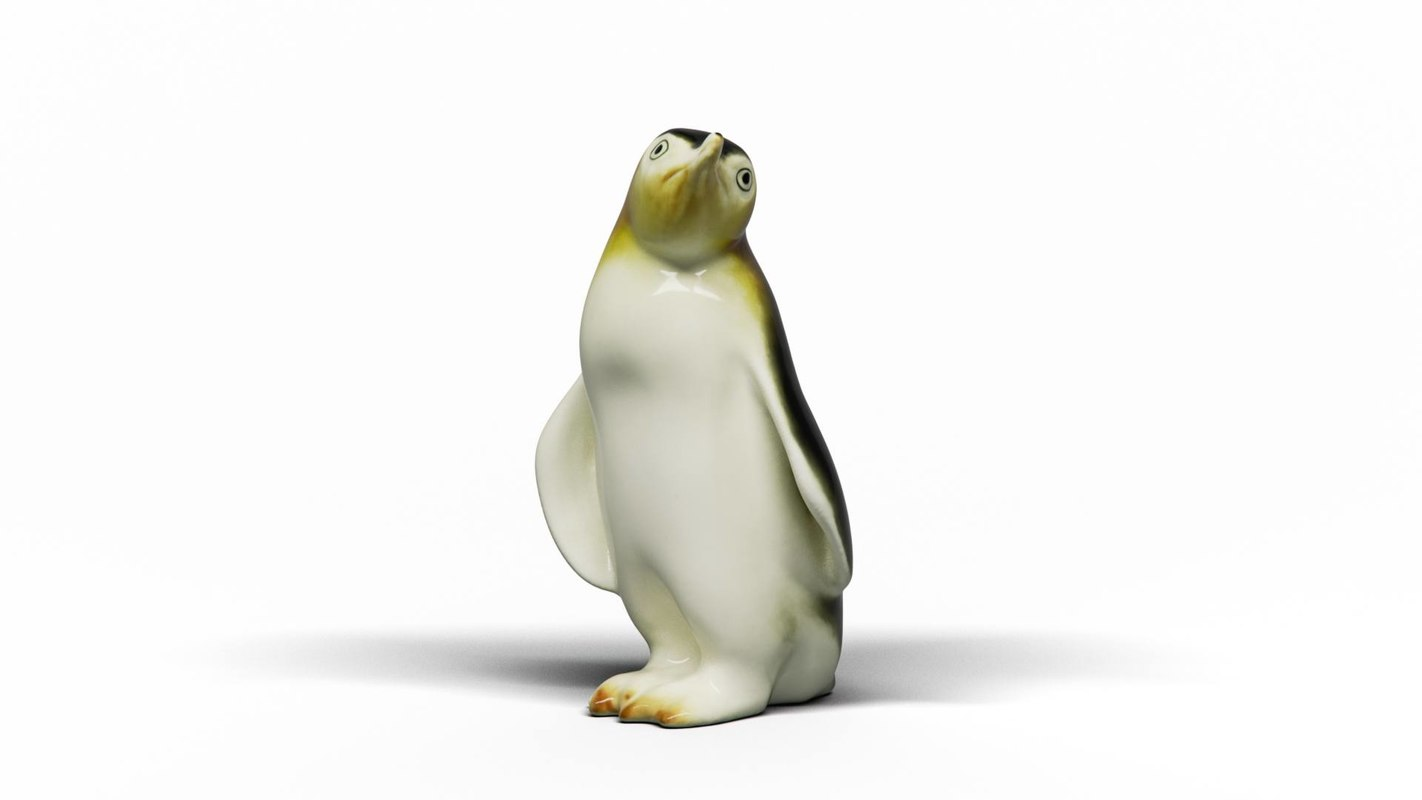 3D pinguin ceramics model