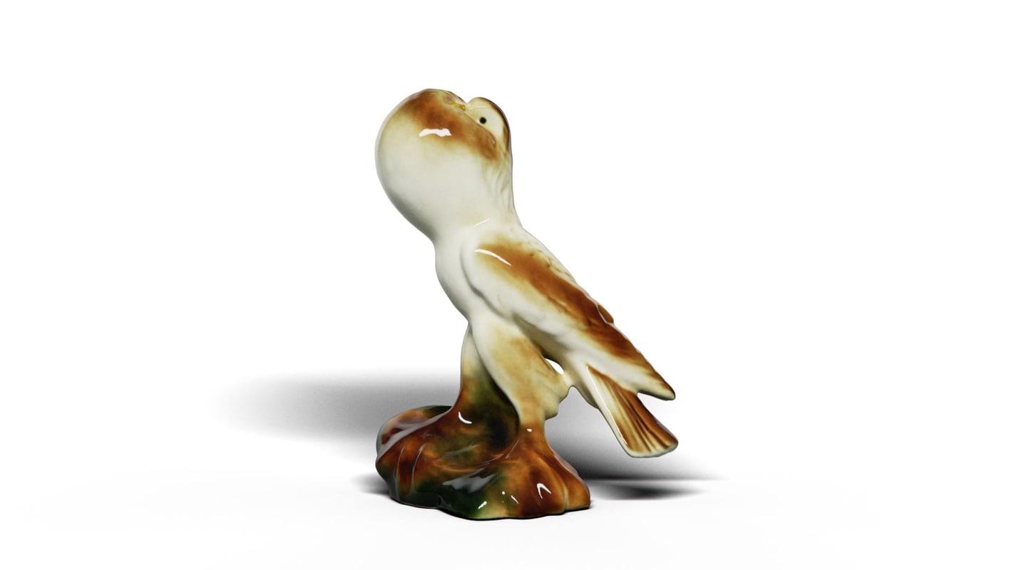 pigeon ceramics 3D model