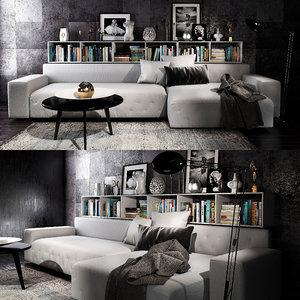 3D twils livingroom set