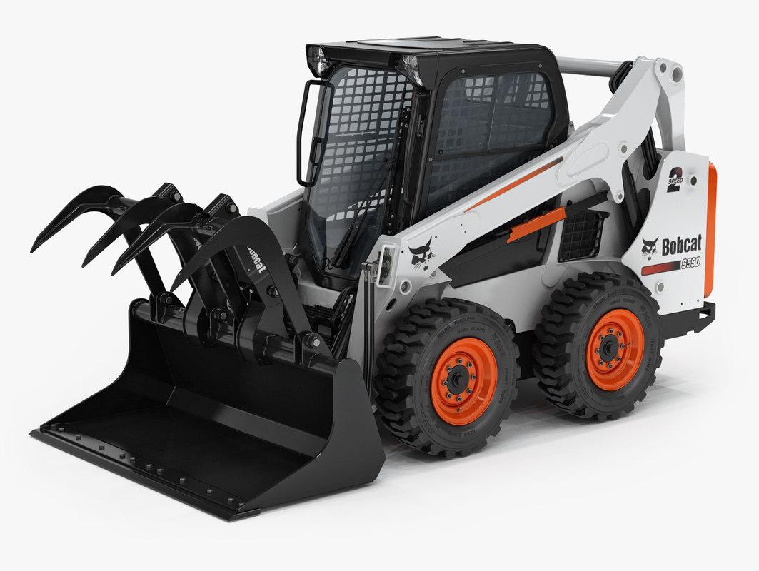 3D model bobcat s590 compact wheel loader