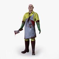 3D butcher character
