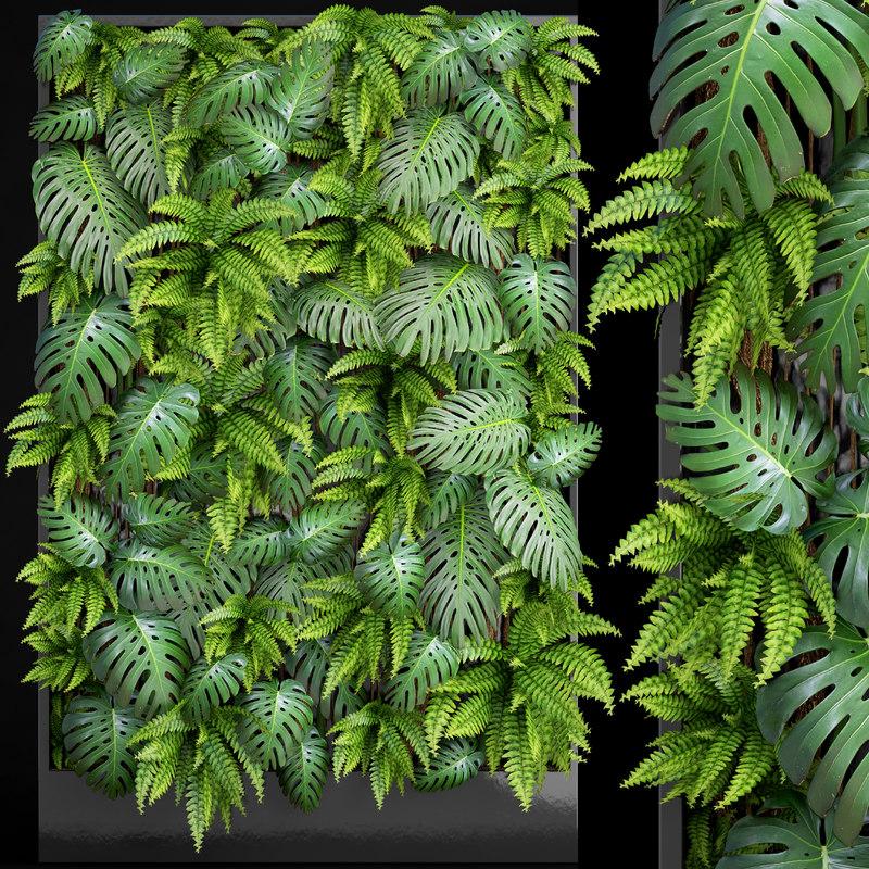 vertical gardening 3D model