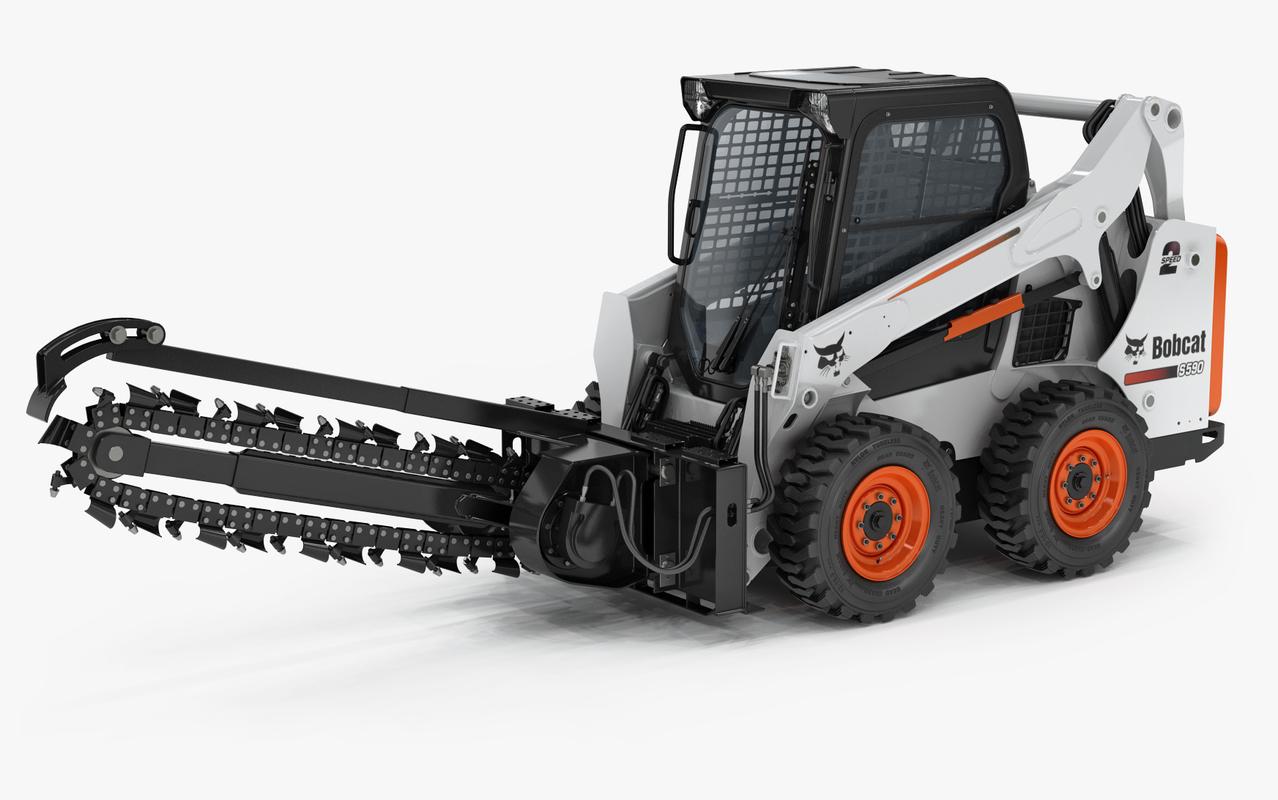 bobcat s590 compact wheel loader 3D model