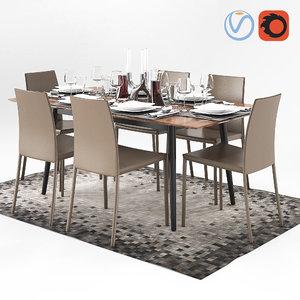 3D table boconcept milano zarra