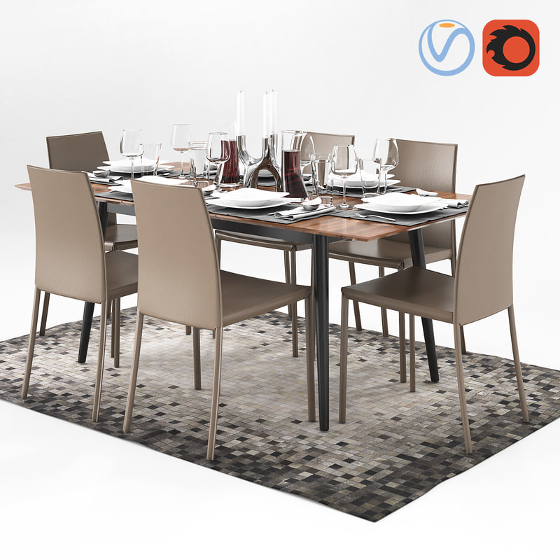 3D table boconcept milano zarra