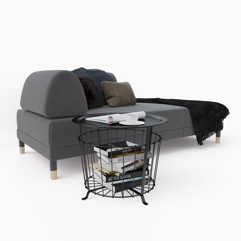 ... 3D Sleeper Sofa Ikea Flottebo ...