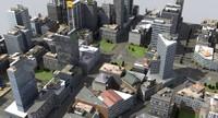3D city block x4