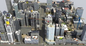 city block x4 3D