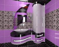 3D bathroom furniture ellipse samire model