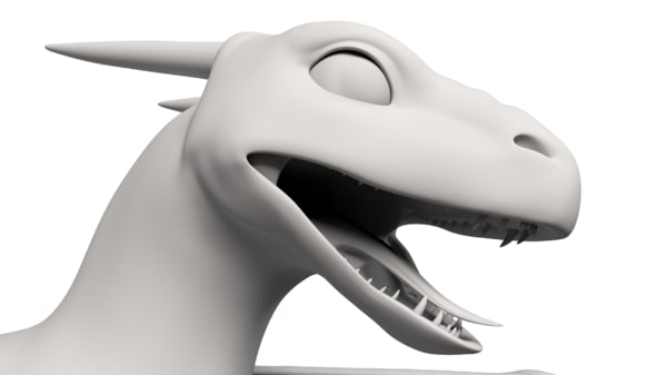3D dragon clean topology model