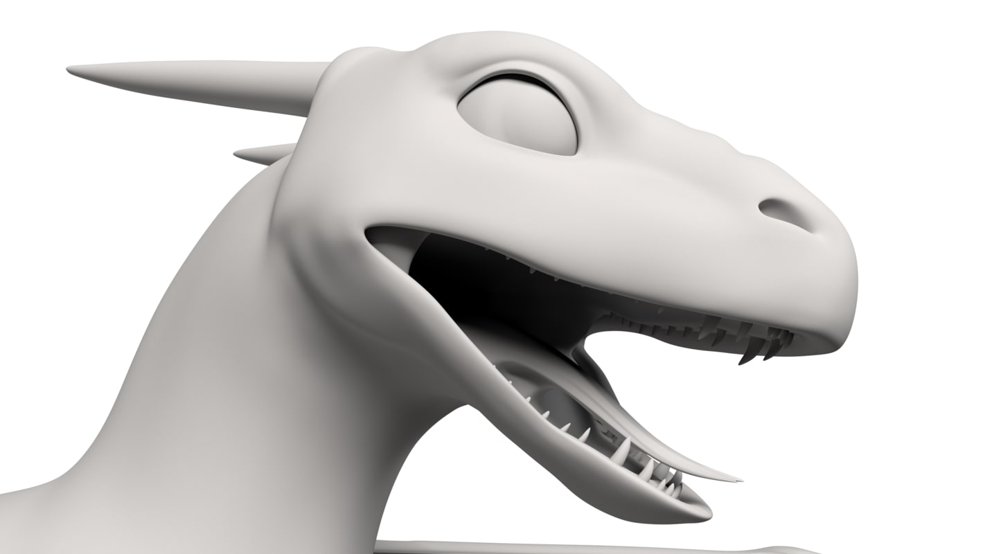 3D dragon clean topology model