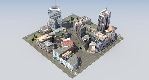 city block b 3D