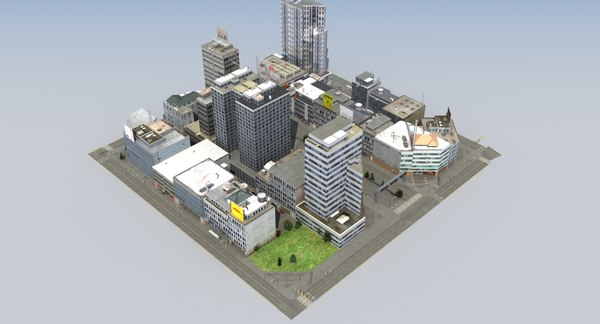 city block c 3D model