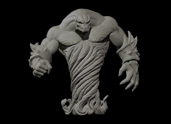 high-poly print 3D model