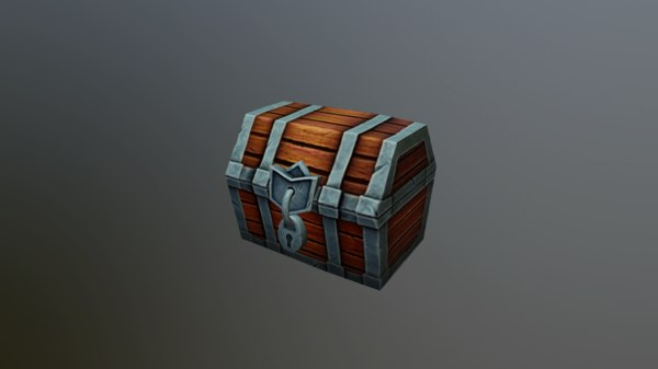 3D chest cartoon toon model