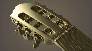 classic guitar - 3D model