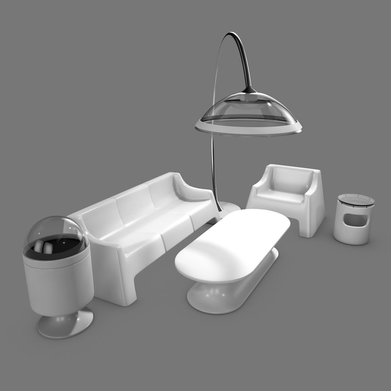 3d Model Furniture Futuristic Turbosquid 1239930