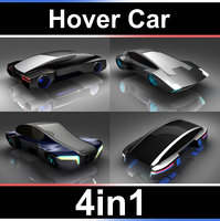 3D hover car set model