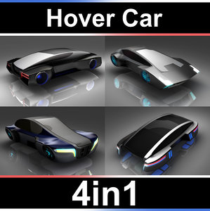 3D hover car set model