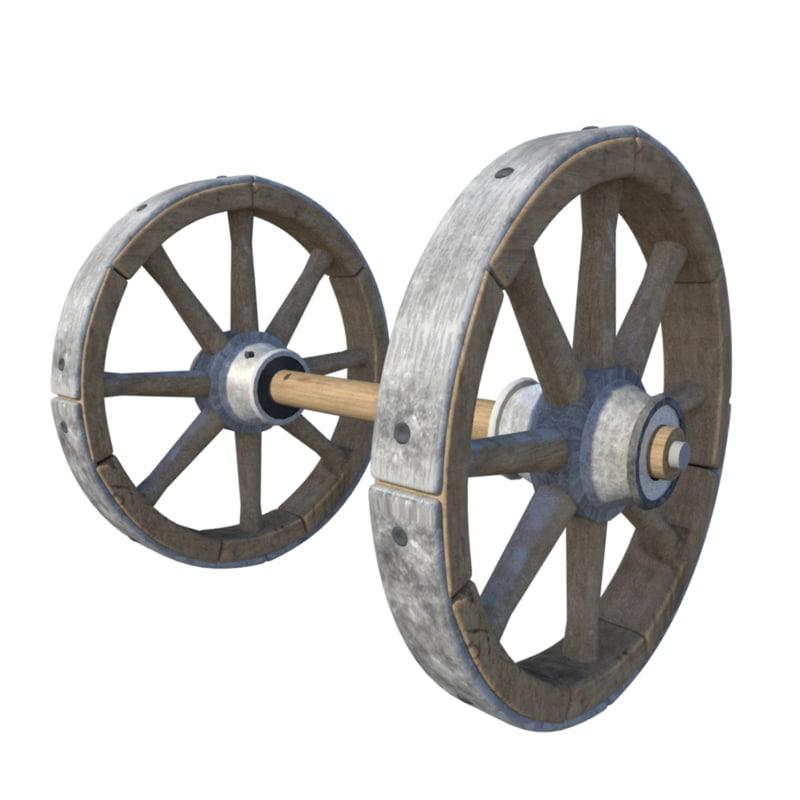 wheel 15th century 3D