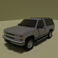 3D 3 door suv