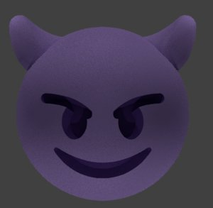 smiling imp emoji 3D model