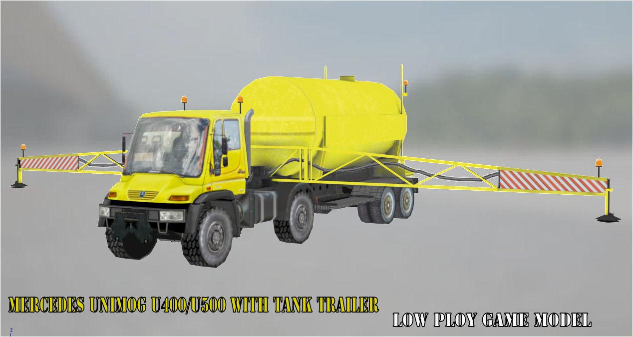 3D u400 u500 tanker tank model