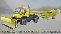 Mercedes Unimog U400/U500 snowplow runway