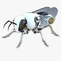 sci-fi robotics bee 3D model