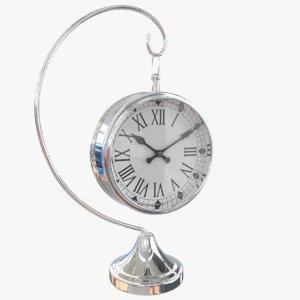 3D metalness clock model