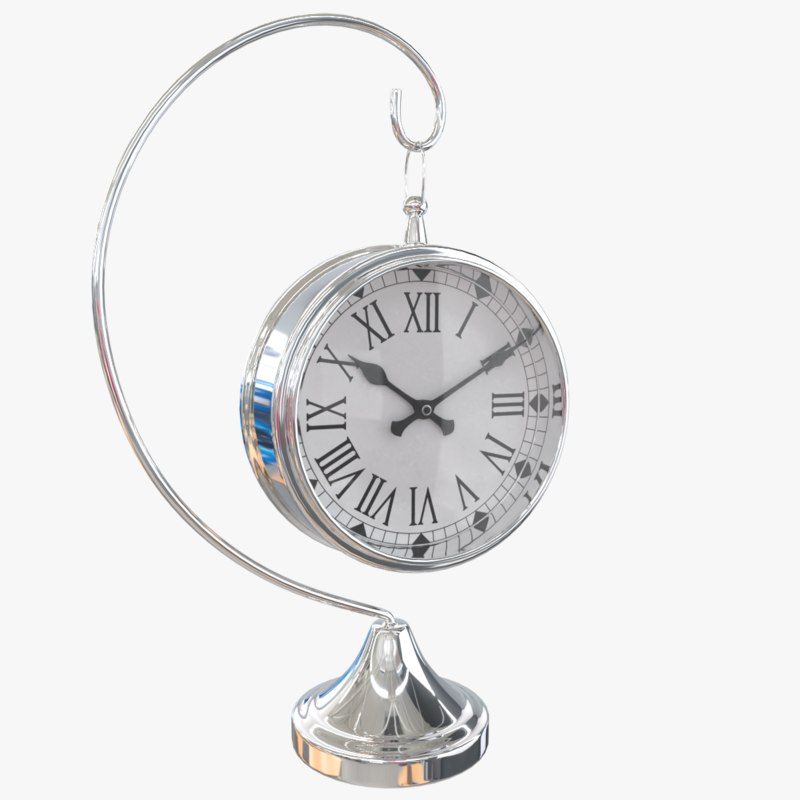 3D metalness clock model